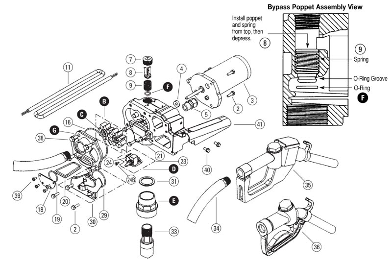 gpi m-150s-au 12 volt fuel transfer pump (15 gpm ... gpi fuel pump wiring diagram #4