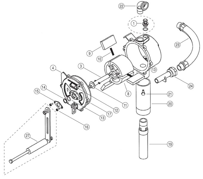 ford 60 fuel pump diagram gpi rp-10-ul rotary hand pump (10 gal/100 revs) - henrich ... #3