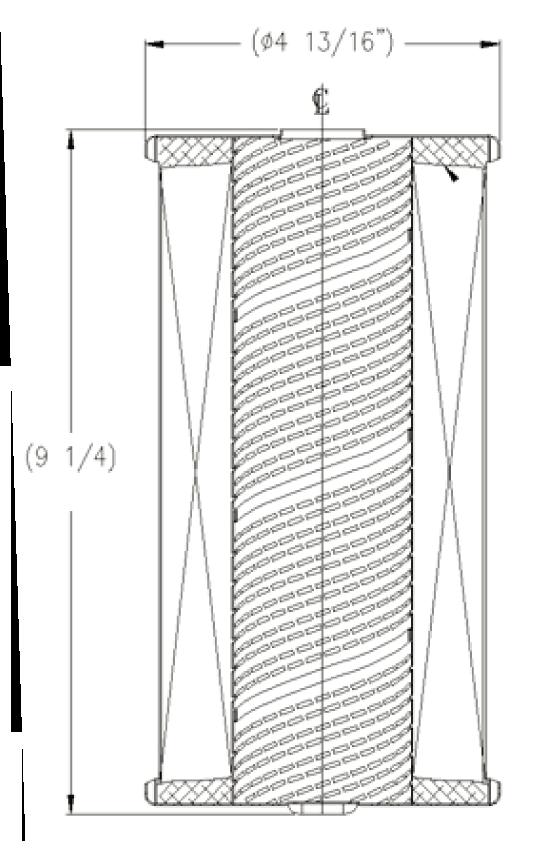 cim-tek 30195 centurion e-10m microglass replacement for filter element