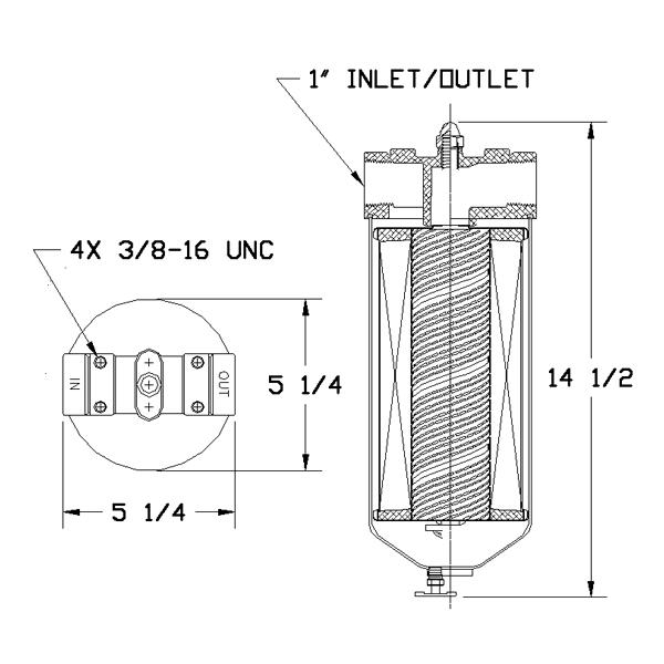 cim-tek 40001 - centurion i filter housing