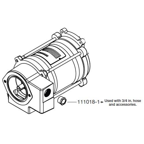 Gpi 111018 1 1 In X 3 4 In Bushing For M 3120 115v Heavy Duty Pump