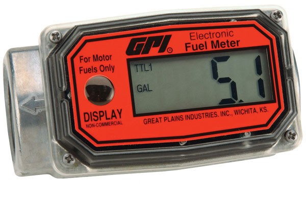 "GPI 01A12LM - 1"" ISO Electronic Digital Meter (10-100 LPM)"