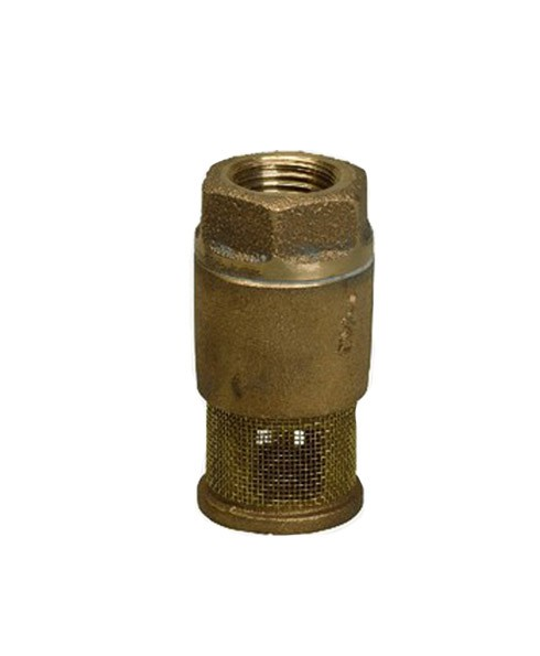 Franklin Fueling 15020201 1 1/2'' Single Poppet Brass Foot Valve