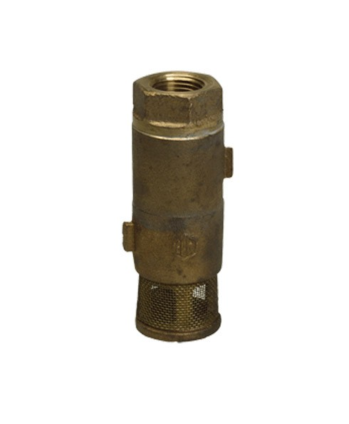 Franklin Fueling 15120001 1 1/2'' Double Poppet Brass Foot Valve