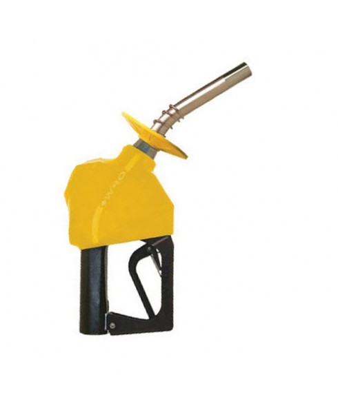 OPW 11B-0750 Gold Automatic Leaded Nozzle with 2 Piece Handwarmer