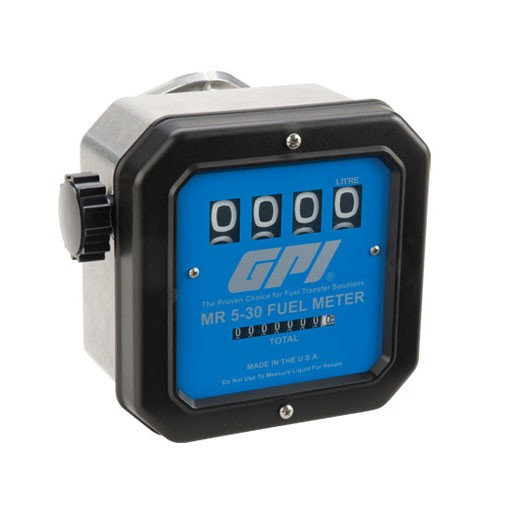 "GPI MR 5-30-L8N - 1"" NPT Aviation Mechanical Fuel Meter (19-114 LPM)"