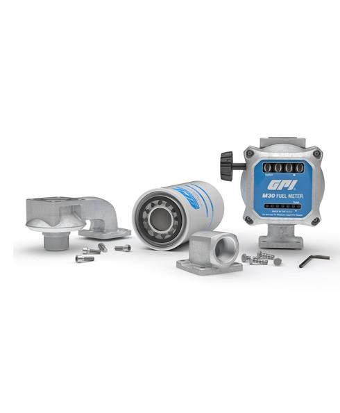 """GPI 162205-01 1"""" Outlet Adaptor 90 deg. for M30 Meter."""