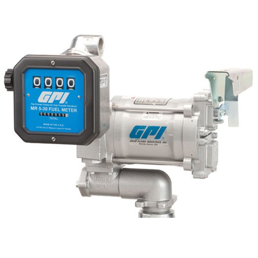 GPI M-3120-AV-PO / MR 5-30-L8N 115 Volt Aviation Pump and Meter Combo (75 LPM)