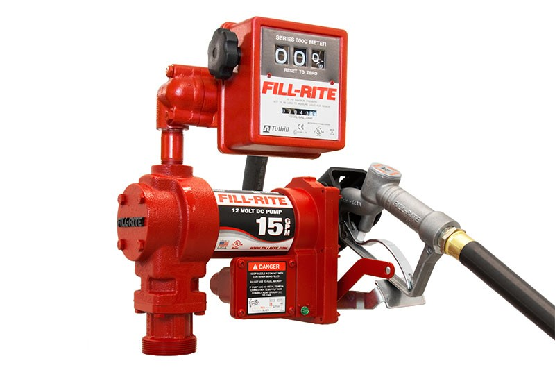 Fill-Rite FR1211GL Fuel Transfer Pump with 807CL Meter (15 GPM)