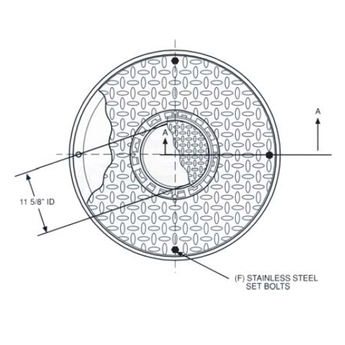 Fairfield Industries 361 WT Water Tight Dual Access Single Port Heavy Duty Manhole