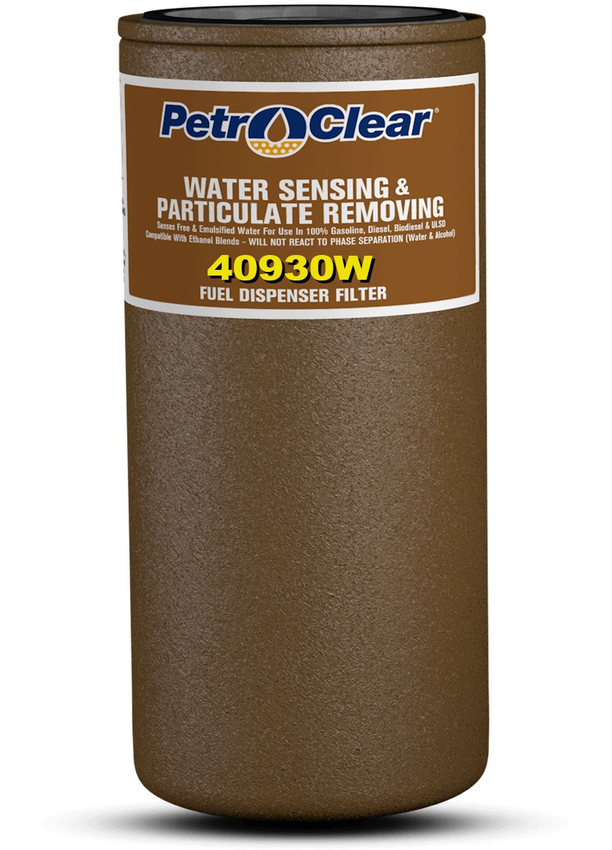 "PetroClear 40930W 30 Micron Water Sensing Spin-On Filter (1"" Flow)"