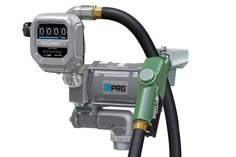 GPI PRO20-PRO20-115AD/QM150L8N 115 Volt GPRO Fuel Transfer Pump w/ Auto Diesel Nozzle & Meter (20 GPM)