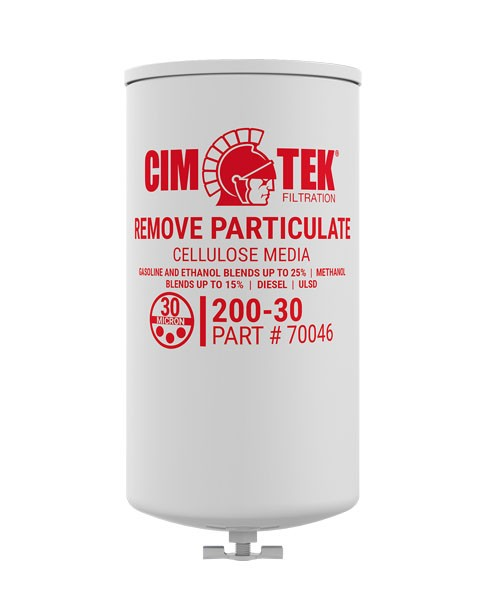 Cim-Tek 70046 200E-30 30 Micron Gasoline Fuel Dispenser Filter