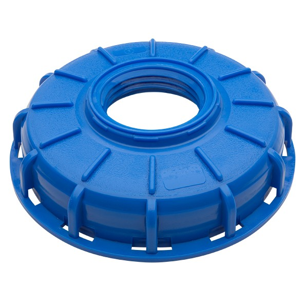 "Micro Matic 749-326 - 6"" IBC Center Blue Cap (2.5"" x 5"" Buttress)"