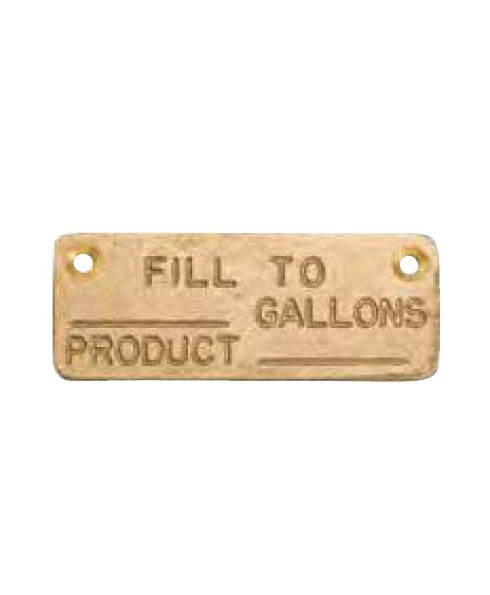 Franklin Fueling 78710302 1.5'' × 3.5'' Fill Identifier Replacement Plate