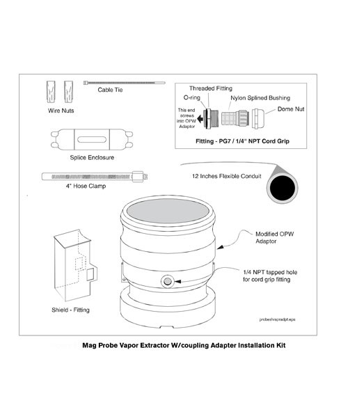 Veeder-Root 846500-001 Vapor Extraction Riser Kit w/ Coupling Adapter