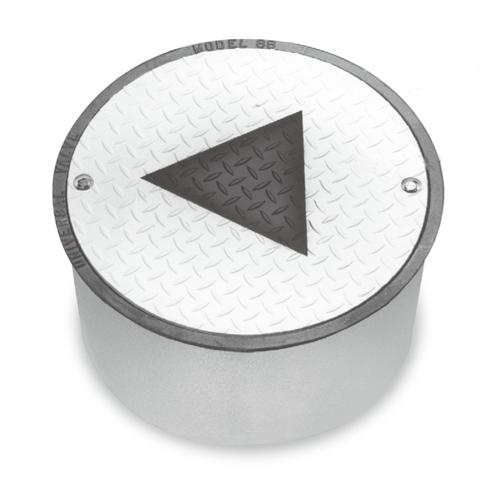 "Universal 98MW-1810 18""x10"" Bolt Monitoring Well Round Manhole"