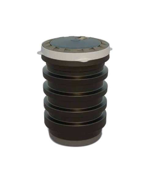 OPW 1C-3112P-BZ EDGE™ 5 Gal. Double-Wall Spill Container w/ Bronze Powercoated Cast Iron Cover/Ring