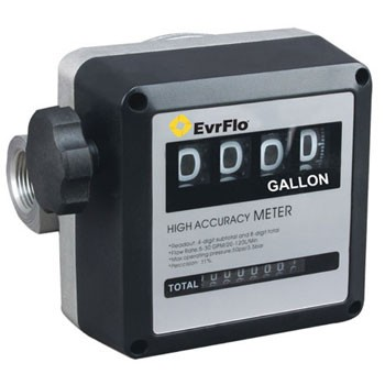 "EvrFlo EV-M-5G - 1"" NPT Mechanical Fuel Meter (5-32 GPM)"