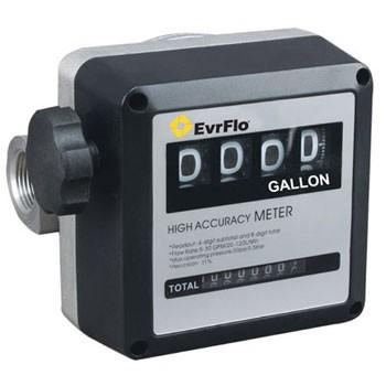 """EvrFlo EV-M-5G - 1"""" NPT Mechanical Fuel Meter (5-32 GPM)"""