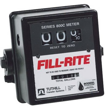 "Fill-Rite BD807CMK - 3/4"" 3 Wheel Flow Meter (5-20 GPM)"