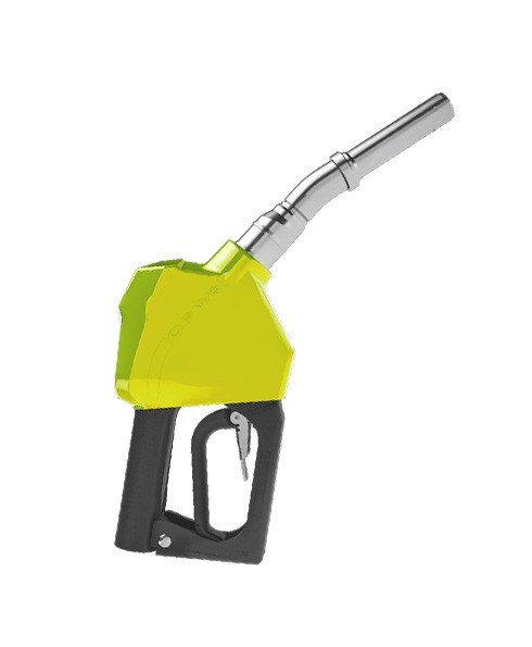 "OPW 14BP-0900 - 3/4"" Yellow Dripless Gasoline Nozzle Without Interlock"