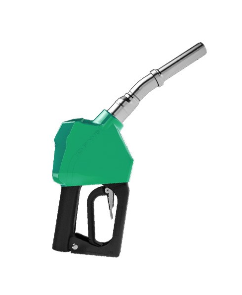 "OPW 14BP-0100 - 3/4"" Green Dripless Gasoline Nozzle Without Interlock"