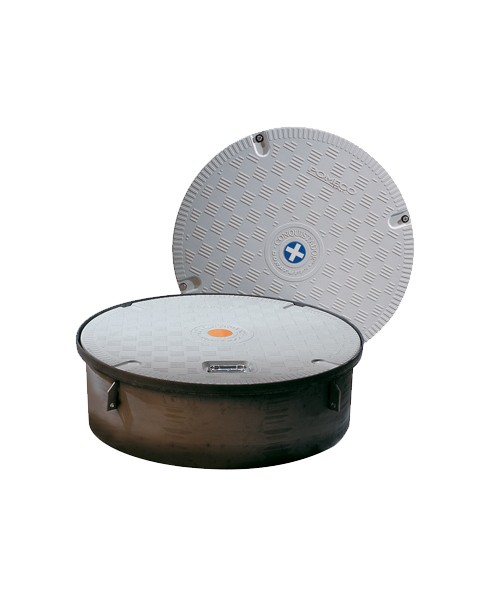 "OPW 44CD-PLKL 44 1/4"" Conquistador™ Plus Composite Cover Manhole"