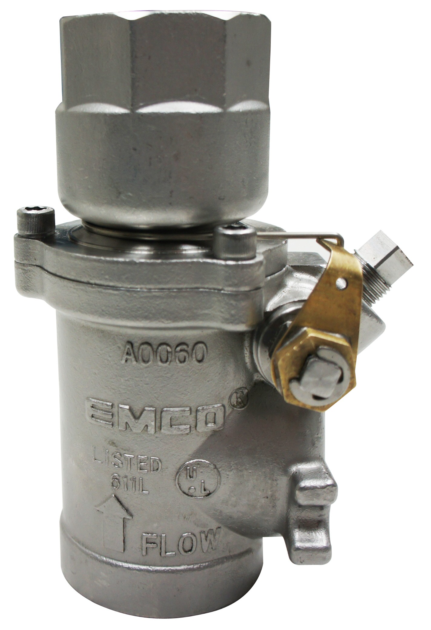 "Emco A0060-023S Stainless Steel 1 1/2"" Double Poppet Emergency Shear Valve"