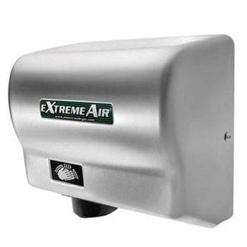 EXT-C American Dryer ExtremeAir Steel Satin Chrome Automatic Hand Dryer (540 Watts)