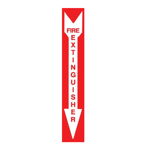 AS-74 Fire Extinguisher Aluminum Sign