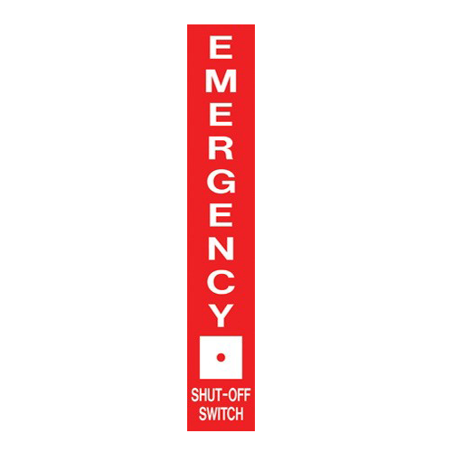AS-75 Emergency Aluminum Sign