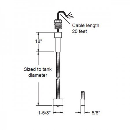Omntec BX-LWF-10 Dry Double-Wall Fiberglass Tanks Sensor