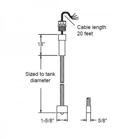 Omntec LWF-10 Dry Double-Wall Fiberglass Tanks Sensor