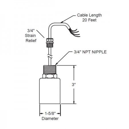 Omntec BX-PDWS Distinguishing Leak-Detection Sensor