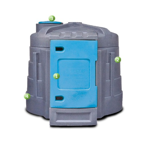Western Global CD925 DEF Bulk Storage Double Walled Tank (925 Gallons)