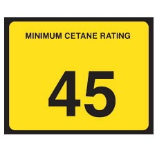 "C45 Cetane Decal ""45"""