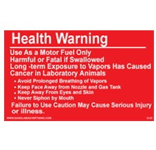 "D-44 Warning Decal ""Health Warning"""