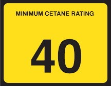 "C40 Cetane Decal ""40"""