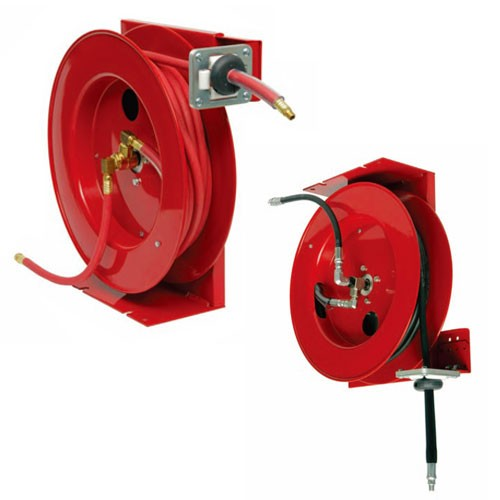 "Duro Reels 1315 - 1/4"" X 50' Heavy Duty Grease Hose Reel"
