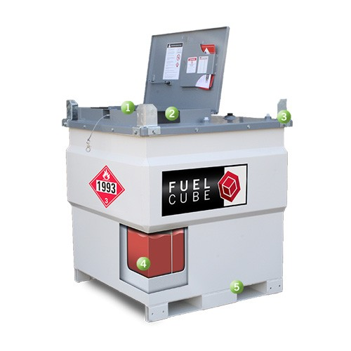 Western Global FuelCube FCP250 Double-Walled Compact Diesel AST Tank (250 Gallons)
