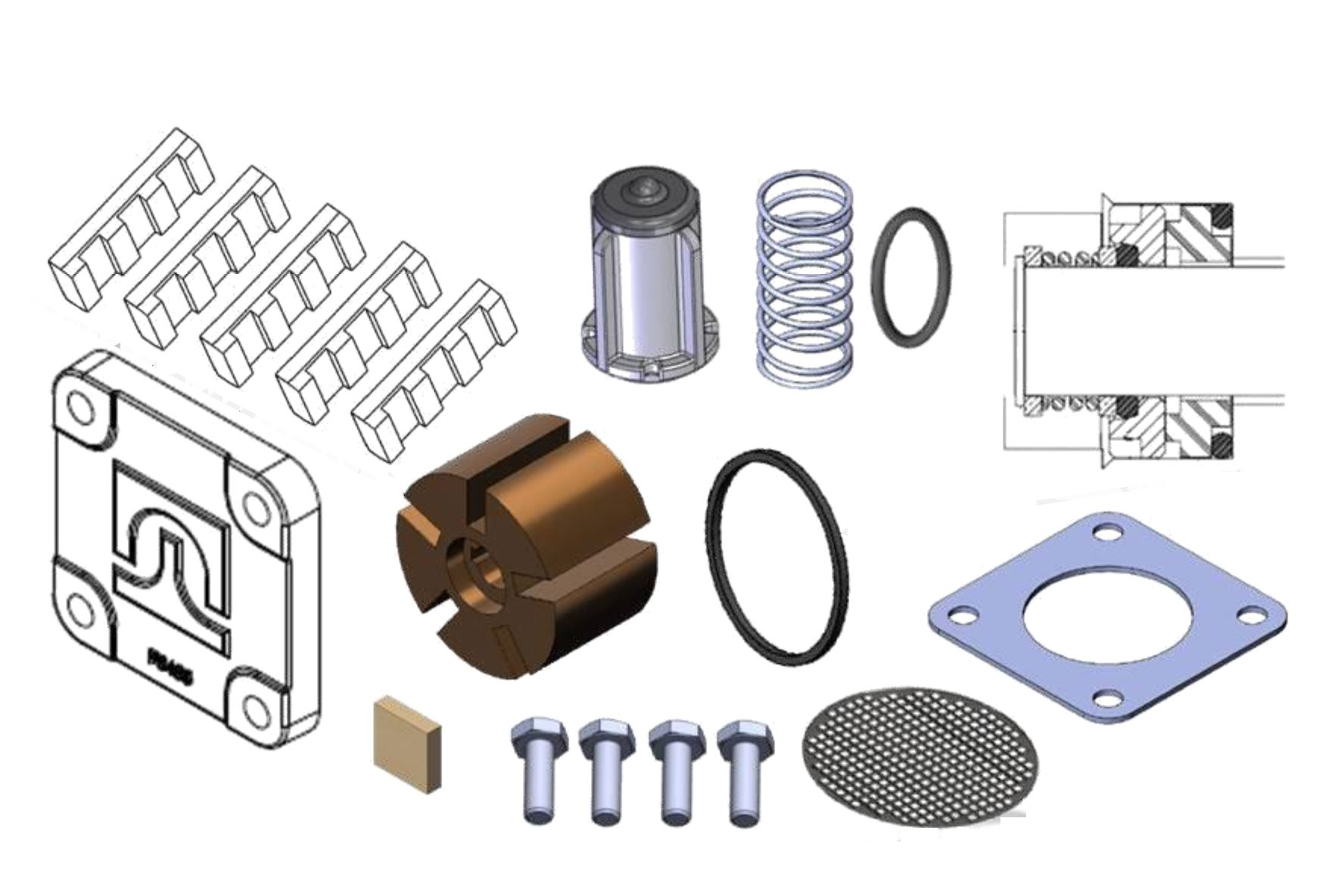 FIll-Rite 1200KTG8572 Rebuild Kit for FR1200B and FR2400B Pumps