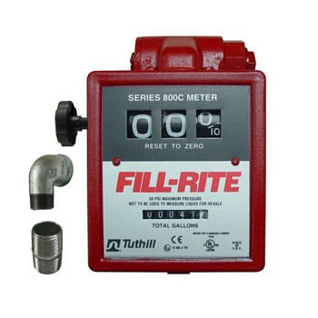 "Fill-Rite 806C - 1"" Gravity Flow Meter (5-20 GPM)"
