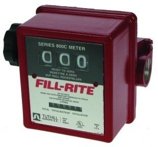 "Fill-Rite 807CL1 1"", 3 Wheel Mechanical Flow Meter (19-76 LPM)"