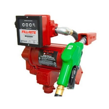 Fill-Rite FR311VLBC 115/230V AC High Flow Pump w/ 901L Meter & UHF Nozzle & Hose (113 LPM)