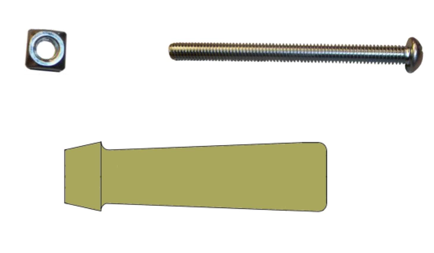 Fill-Rite KIT100WGP Bulk Wood Handle Kit (15 Wood Handles, 15 Handle Nuts, 15 Handle Bolts)