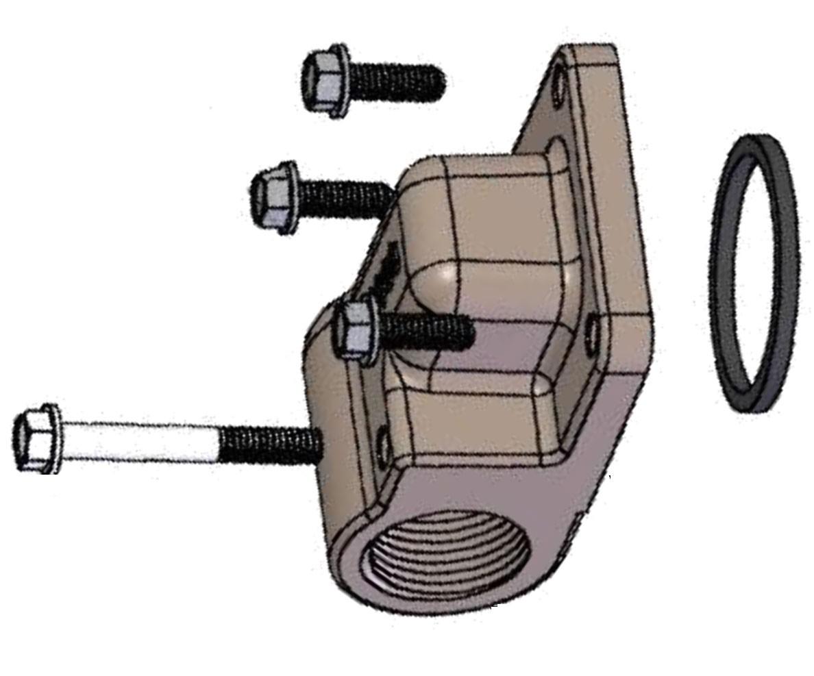 Fill-Rite KIT120FLG '' Meter Flange for 4200 Pumps