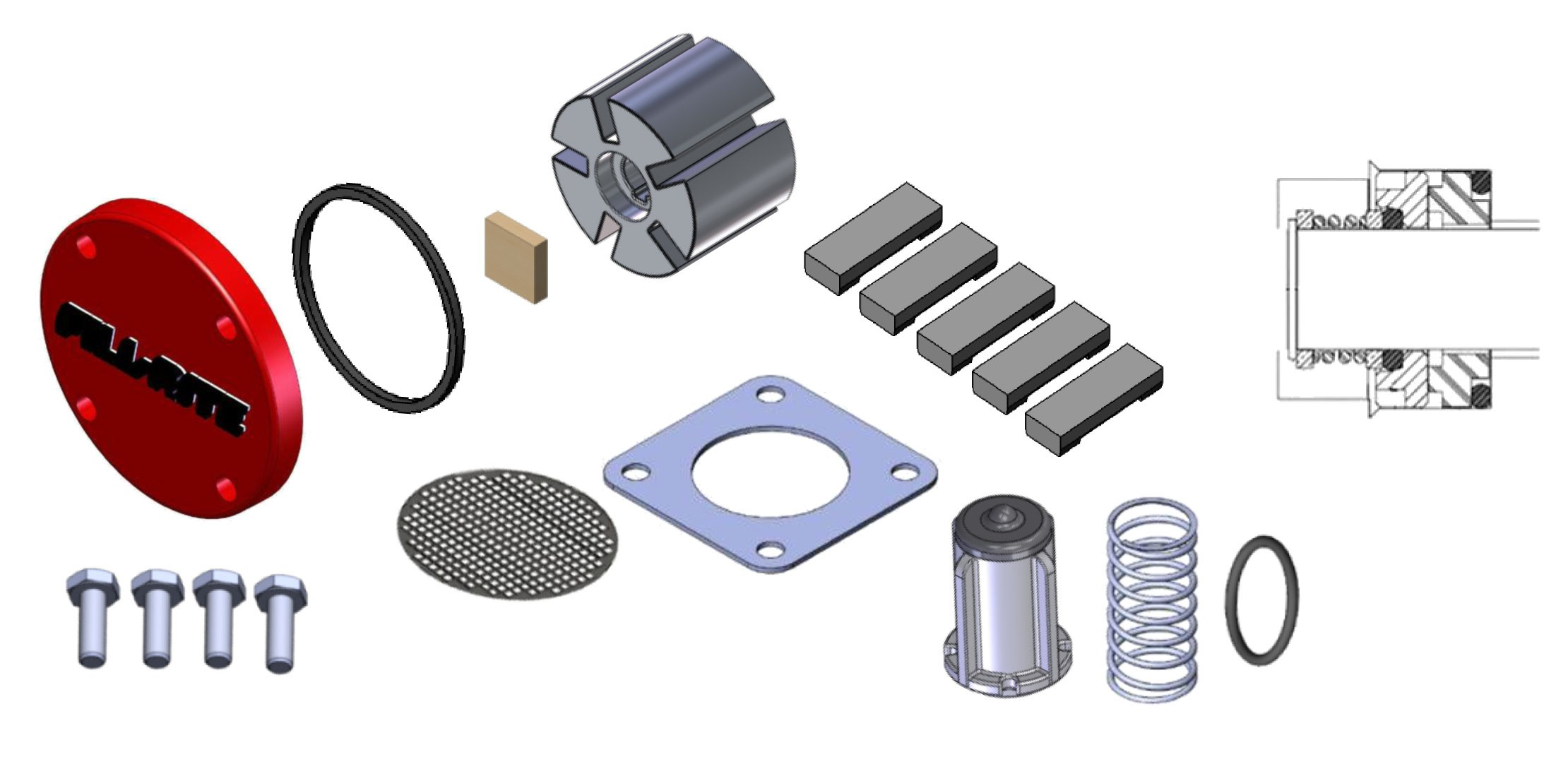 Fill-Rite KIT120RKG Pump Rebuild Kit