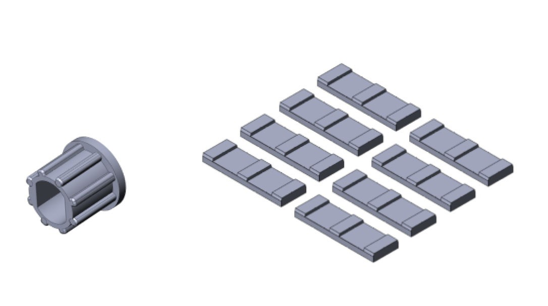 Fill-Rite KIT300VP Bulk Vane Kit (64 Carbon Vanes and 8 Rotor Inserts)