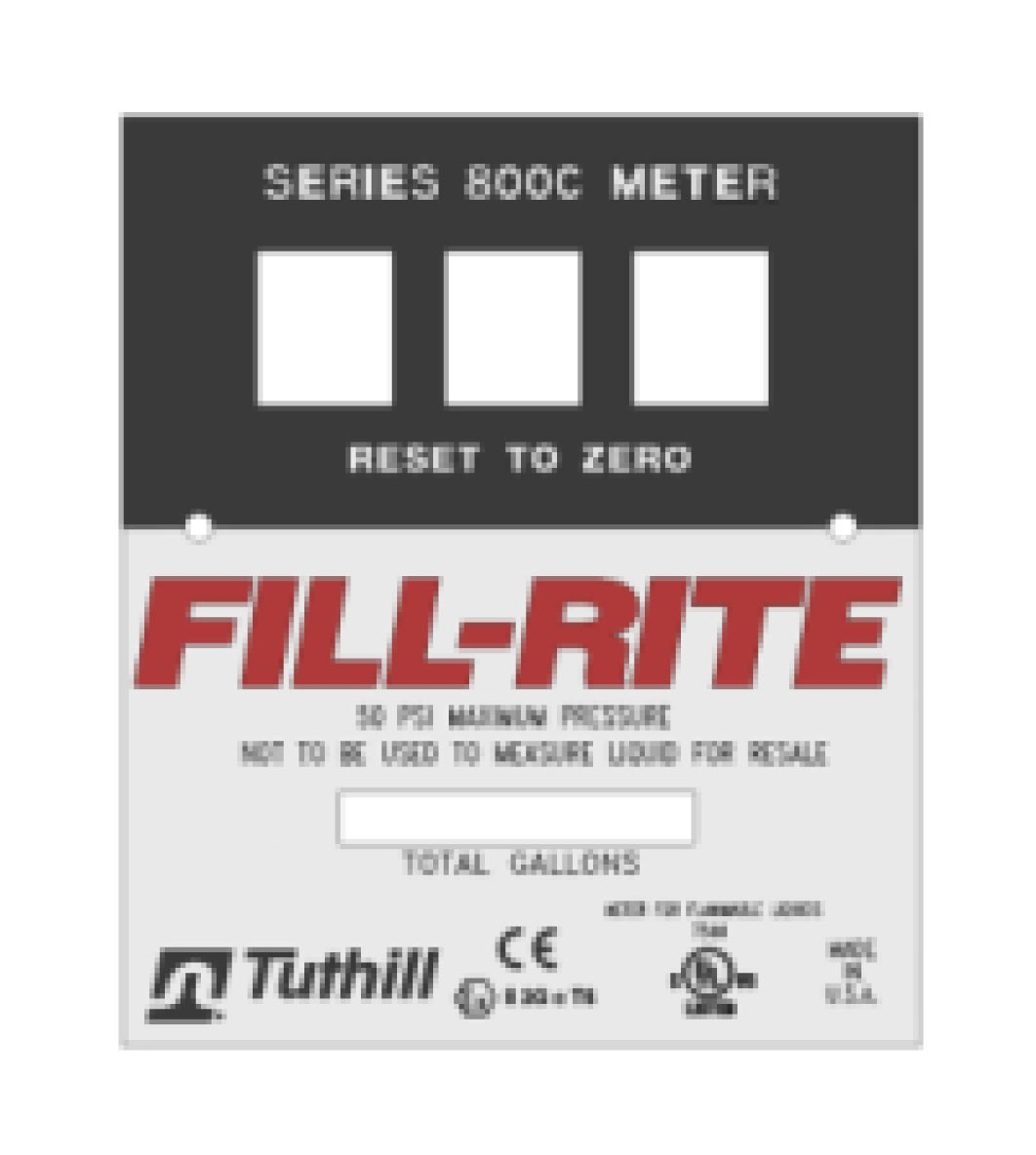 Fill-Rite KIT800FPP Bulk Gallon Faceplate Kit (5 pieces)